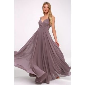 All About Love Dusty Purple Maxi Dress Gown LuLus